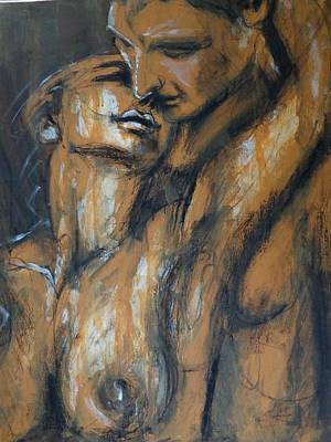 Lovers Painting - Lovers - In Love With You by Carmen Tyrrell
