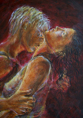 Painting - Lovers In Red by Nik Helbig