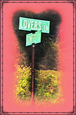 Valentines Day Digital Art - Lovers Lane by Bill Cannon