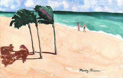 Painting - Lovers On The Beach by Mickey Krause