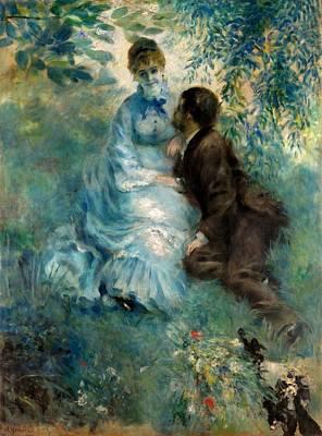 Galerie Painting - Lovers by Pierre-Auguste Renoir