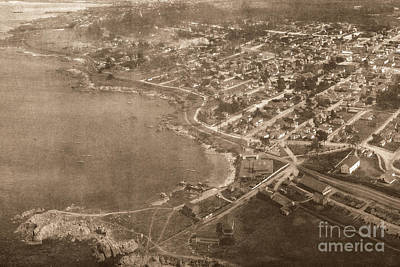 Photograph - Aerial Of Lovers Point And Pacific Grove California July 10 1906 by California Views Archives Mr Pat Hathaway Archives