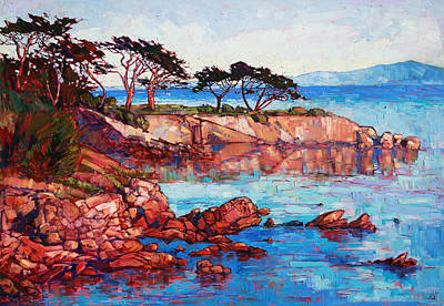 Monterey Painting - Lovers Point by Erin Hanson