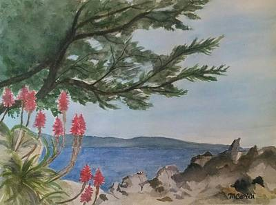 Tresses Painting - Lover's Point by M Carlen