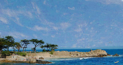 Digital Art - Lovers Point - Pacific Grove Ca by Jim Pavelle