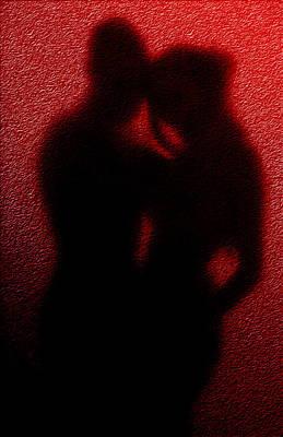 Lovers  Secret Embrace Art Print by Teri Schuster