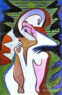 Painting - Lovers - The Kiss by Pg Reproductions