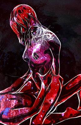Sex Digital Art - Lovers Universe by Steve K