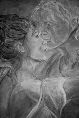 Painting - Lovers Waltz - Gray by Nik Helbig