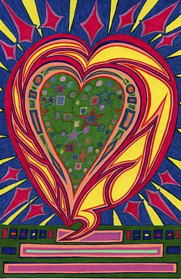 Love's Brilliance Illuminated Art Print by Kenneth James