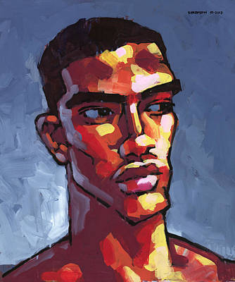 African American Painting - Loves Football by Douglas Simonson