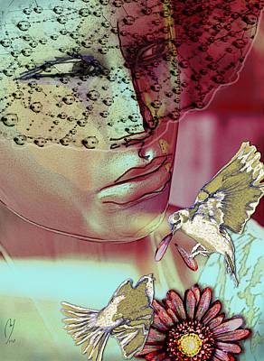 Digital Art - Loves Me Loves Me Not by Maria Jesus Hernandez