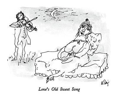 Drawing - Love's Old Sweet Song by William Steig