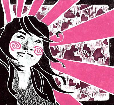 Asian Pop Culture Painting - Lovestruck by Vanessa Baladad
