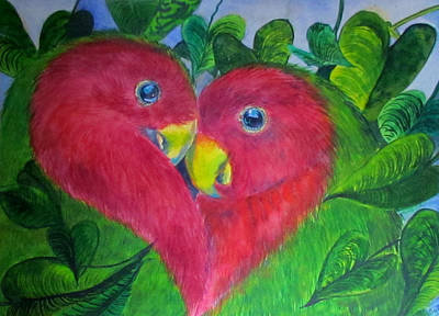 Painting - Lovey Dovey by Susan Duxter