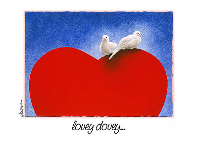 Painting - Lovey Dovey... by Will Bullas