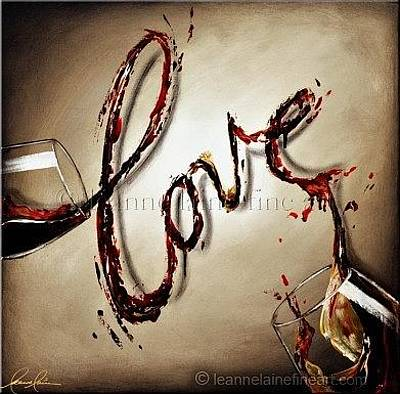 Wine Art Painting - Lovin Wine Art Painting by Leanne Laine