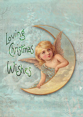 Loving Angel Wishes Art Print by Sarah Vernon