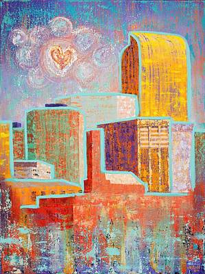 Painting - Loving It In Denver by Margaret Bobb