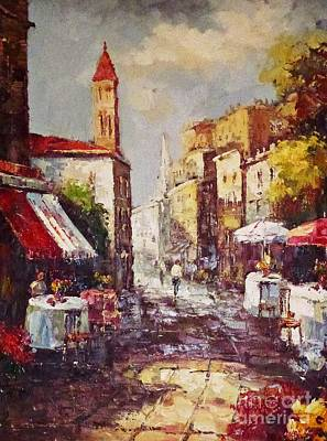 Painting - Loving Old Towns by AmaS Art