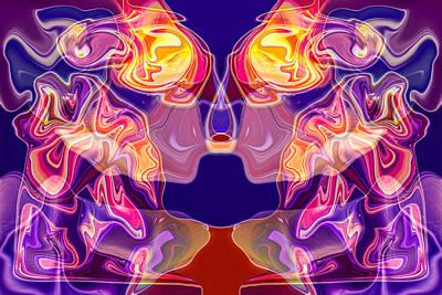 Painting - Loving Reflection by Omaste Witkowski