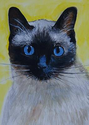 Painting - Loving Siamese by Leslie Allen