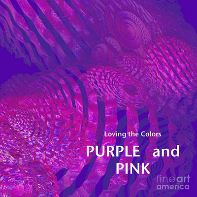 Mixed Media - Loving The Colors Purple And Pink Group Avatar by First Star Art