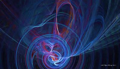 Loving The Colour Blue Art Print