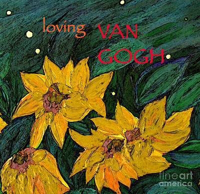 Mixed Media - Loving Van Gogh Group Avatar by First Star Art