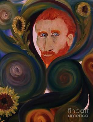 Painting - Loving Vangogh by Rachel Carmichael