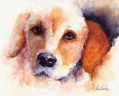 Gold Labrador Painting - Loving You by Dianne Patula