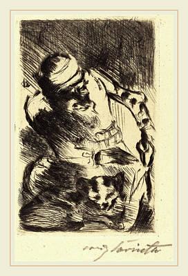 Lovis Corinth, The Cat Of The Prophet Die Katze Des Art Print by Litz Collection