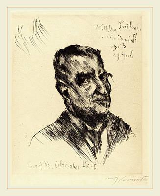 Tr Drawing - Lovis Corinth, Wilhelm Trübner, German, 1858-1925 by Litz Collection