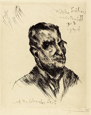 Tr Drawing - Lovis Corinth, Wilhelm Trübner, German, 1858 - 1925 by Quint Lox