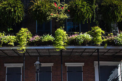 Orleans Photograph - Low Angle View Of A Balcony, French by Panoramic Images