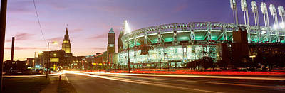 Low Angle View Of A Baseball Stadium Art Print by Panoramic Images