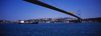 Fluttering Photograph - Low Angle View Of A Bridge, Bosphorus by Panoramic Images