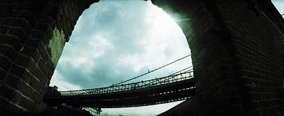 Dumbo Photograph - Low Angle View Of A Bridge, Brooklyn by Panoramic Images