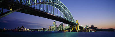 Harbor Scene Wall Art - Photograph - Low Angle View Of A Bridge, Sydney by Panoramic Images