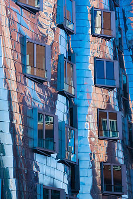 Frank Gehry Photograph - Low Angle View Of A Building, Neuer by Panoramic Images