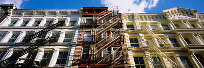 New York City Fire Escapes Photograph - Low Angle View Of A Building, Soho by Panoramic Images