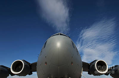 Low Angle View Of A C-17 Globemaster Art Print by Stocktrek Images