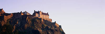 Edinburgh Castle Photograph - Low Angle View Of A Castle On Top by Panoramic Images