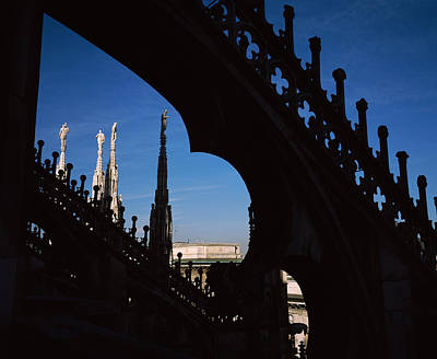 Low Angle View Of A Cathedral, Duomo Di Art Print by Panoramic Images