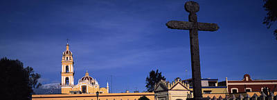 Low Angle View Of A Church, Cholula Art Print by Panoramic Images