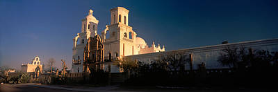 San Xavier Photograph - Low Angle View Of A Church, Mission San by Panoramic Images