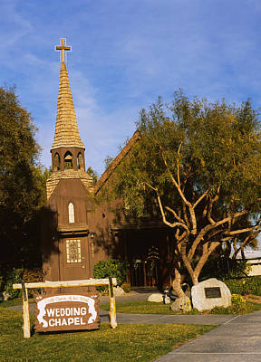 Las Vegas Wedding Photograph - Low Angle View Of A Church, The Little by Panoramic Images