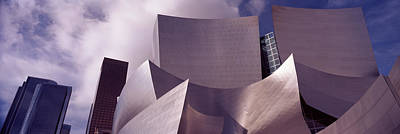 Walt Disney Concert Hall Photograph - Low Angle View Of A Concert Hall, Walt by Panoramic Images