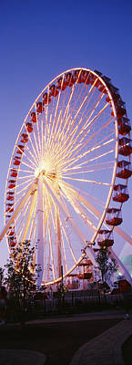 Low Angle View Of A Ferris Wheel, Navy Art Print