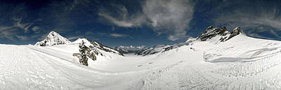 Jungfraujoch Photograph - Low Angle View Of A Glacier, Aletsch by Panoramic Images